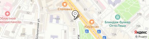 Amber на карте Калининграда