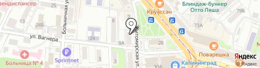 Часовой Сервис на карте Калининграда