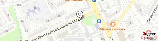 Магазин аккумуляторов на карте Калининграда