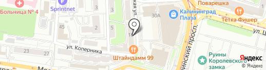Каре на карте Калининграда