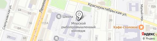 Русский пир на карте Калининграда