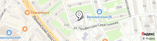 Наш город на карте Калининграда