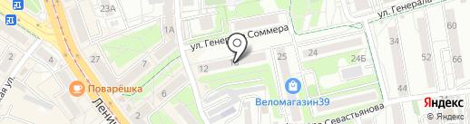 Обучающий центр Надежды Кононцевой на карте Калининграда