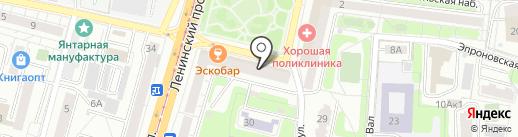 Мебельград на карте Калининграда