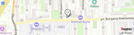 Магазин свежего мяса на карте Калининграда
