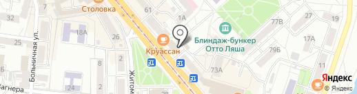 Пани Ани на карте Калининграда