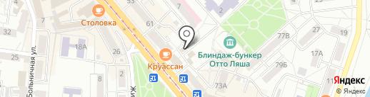 Компас здоровья на карте Калининграда