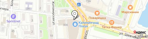 Арбат на карте Калининграда