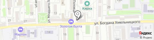 Радуга путешествий на карте Калининграда