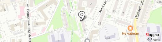 Техносток на карте Калининграда