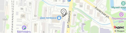 Desire на карте Калининграда
