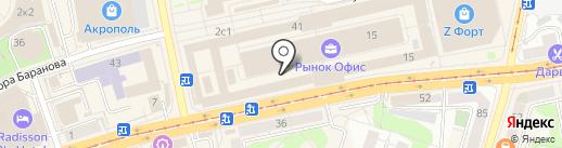 Тещины Блины на карте Калининграда