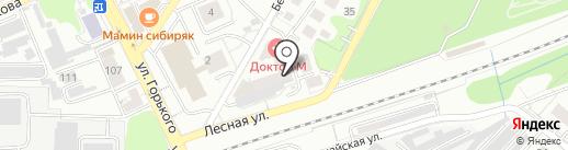 Узор на карте Калининграда