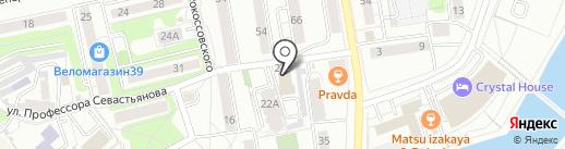 Янтарный Ключ на карте Калининграда