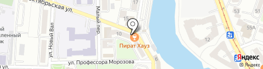 Amberstein на карте Калининграда