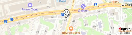 Оптика Фрейм39 на карте Калининграда