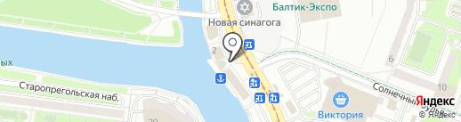 Маяк на карте Калининграда