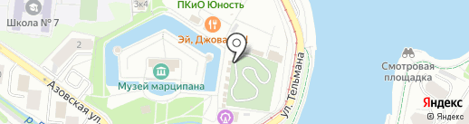 Розмарин на карте Калининграда