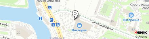 Центр-Тревел на карте Калининграда