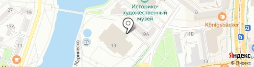 Управление Федеральной службы государственной регистрации, кадастра и картографии по Калининградской области на карте Калининграда