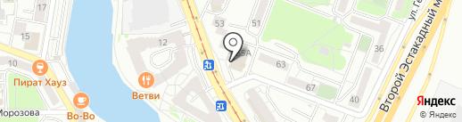Доминго на карте Калининграда