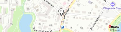 Ом Шантидом на карте Калининграда