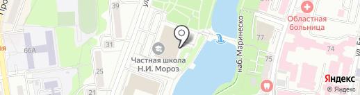 Частная начальная школа Н.И. Мороз на карте Калининграда