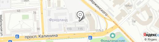 D & K на карте Калининграда
