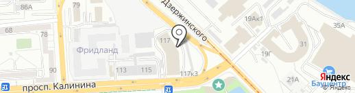 Аршин на карте Калининграда