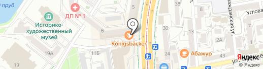 Konigsbacker на карте Калининграда