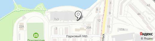 Зачётка на карте Калининграда