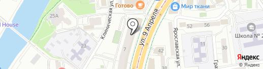 Омега на карте Калининграда