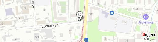 Продовольственный магазин на карте Калининграда