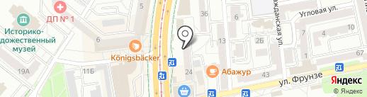 Салон цветов на карте Калининграда