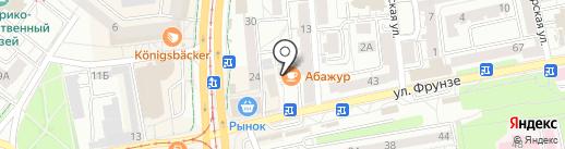 Магазин одежды и обуви на карте Калининграда