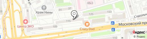 Акрилан на карте Калининграда