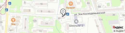 Продуктовый минимаркет на карте Калининграда