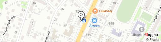 Розенштрассе на карте Калининграда