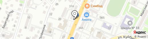 Цветочный магазин на карте Калининграда