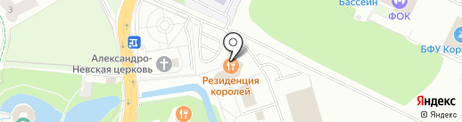 Атмосфера на карте Калининграда