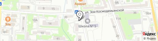 Магазин постельного белья на карте Калининграда