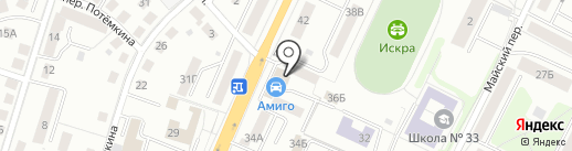 Мастерская на карте Калининграда
