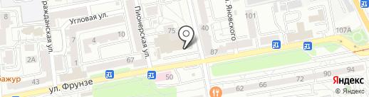 Альфард на карте Калининграда