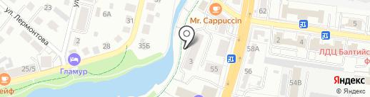 Декарт на карте Калининграда