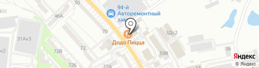 Елена на карте Калининграда