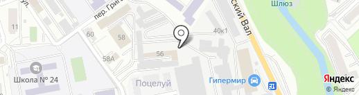 Киоск фастфудной продукции на карте Калининграда