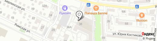 Вася Бочкин на карте Калининграда