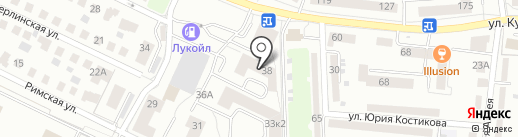 Школа Красоты на карте Калининграда