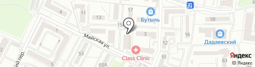 Радуга на карте Калининграда