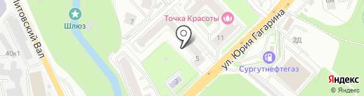 Фемеле на карте Калининграда
